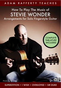 How to Play the Music of Stevie Wonder for Solo Fingerstyle Guitar Vol 1